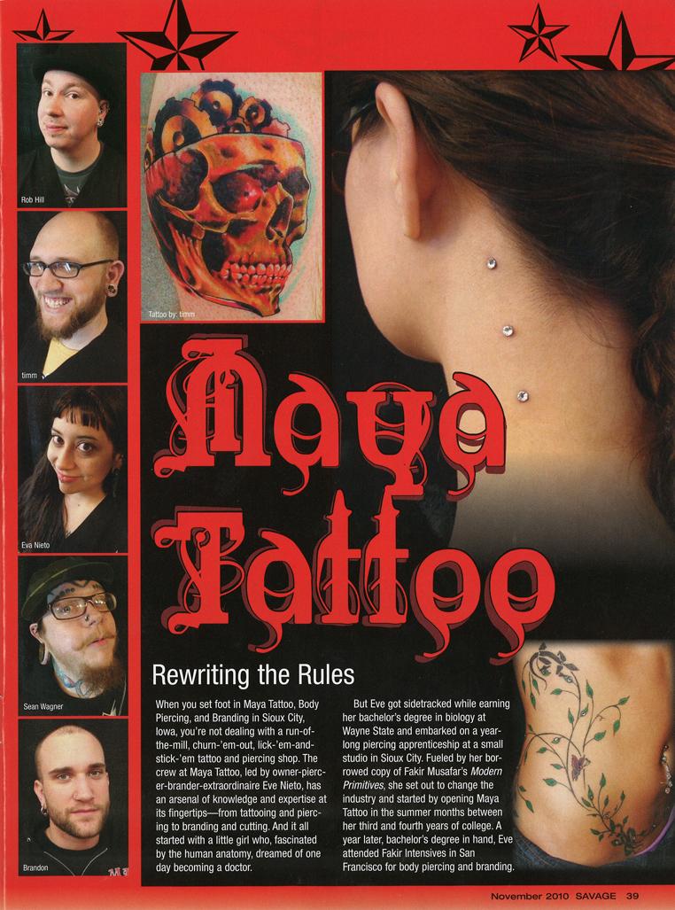 savage magazine nov 2010 page 2
