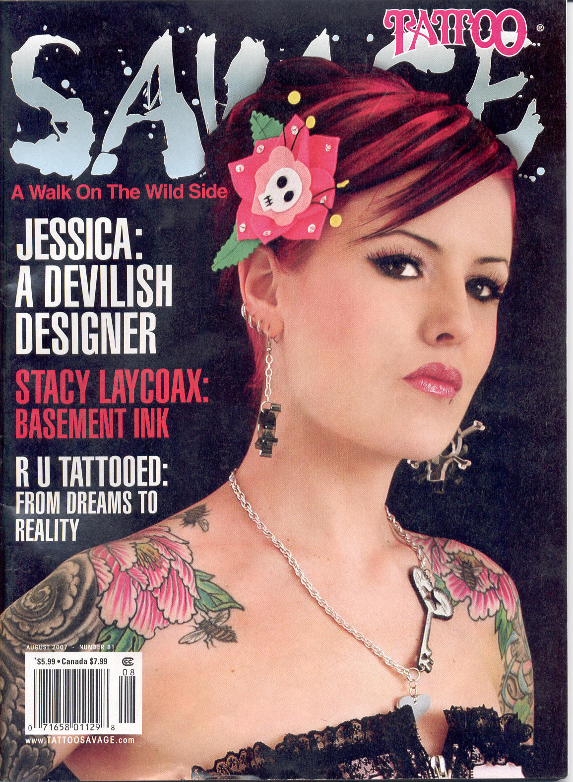 savage mag august 07 cover