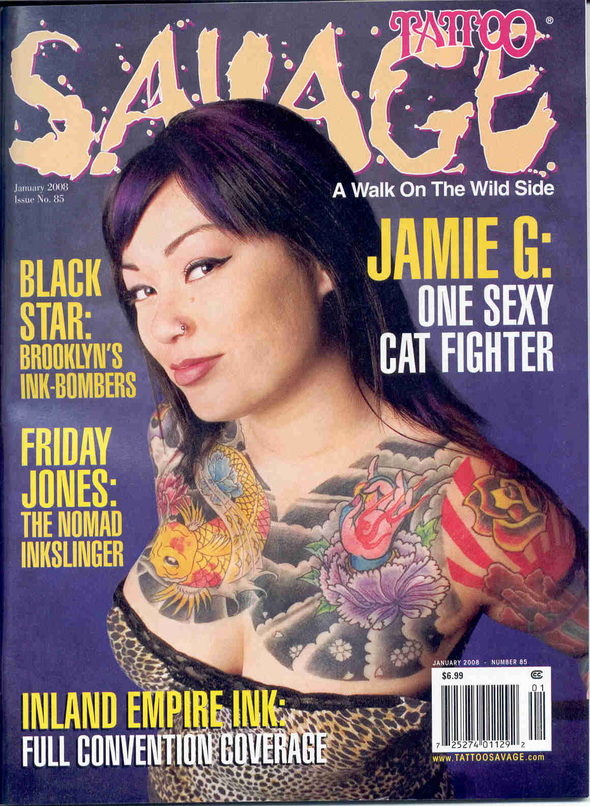 SAVAGE MAG JANUARY 2008 cover