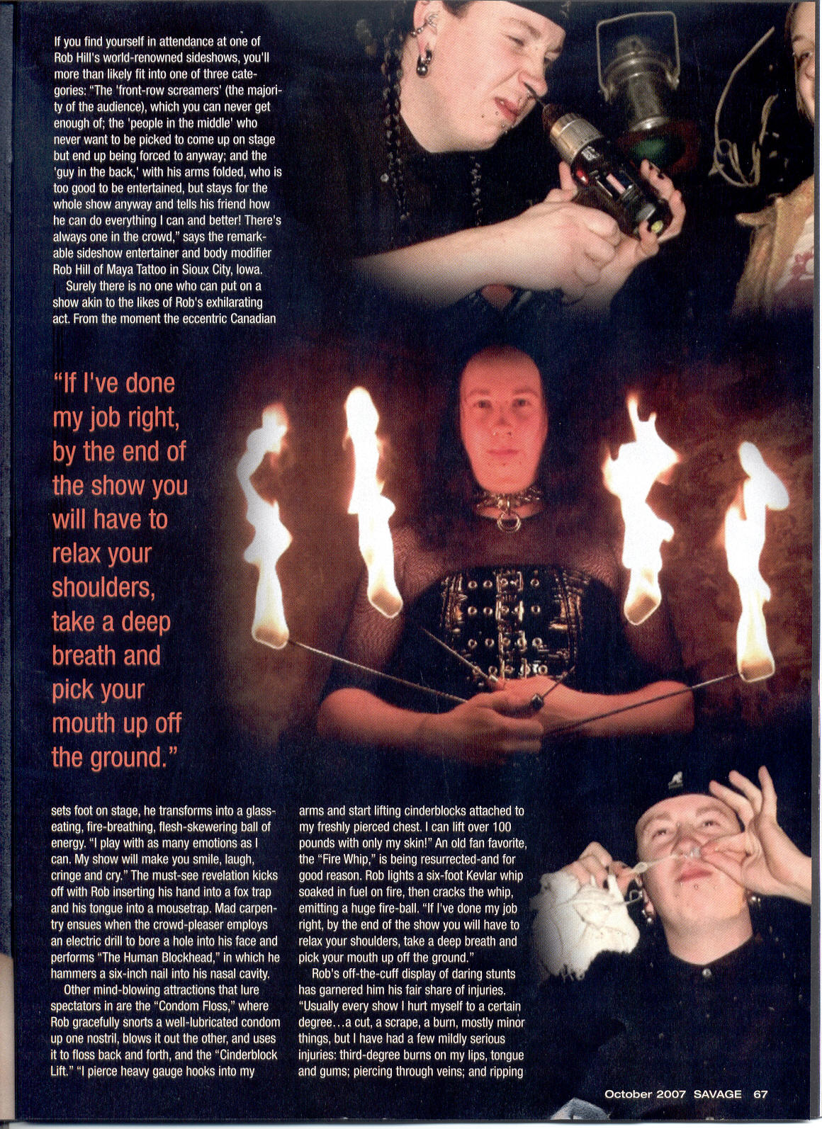savage magazine october 07 page 2