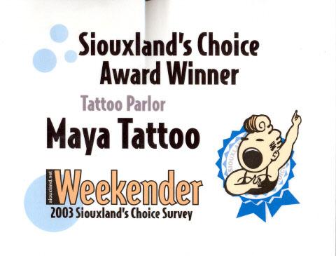weekender award 2003