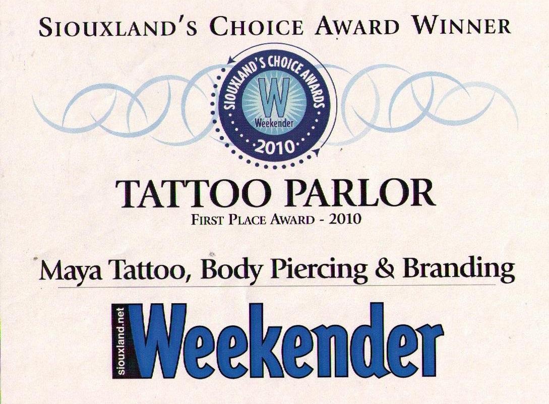 weekender award 2010